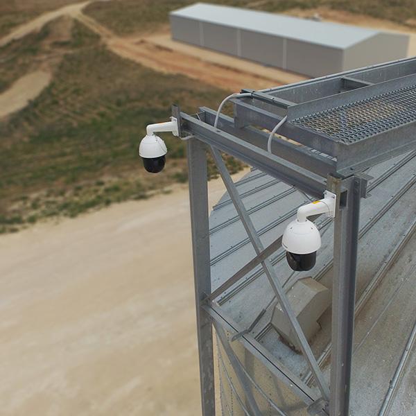 Irana CCTV cameras on silo