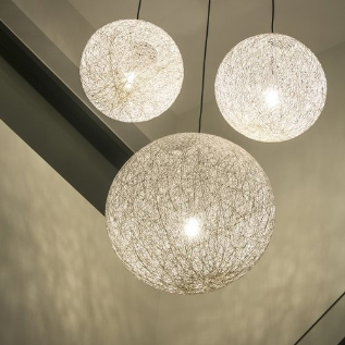 Wire ball hanging pendant lights