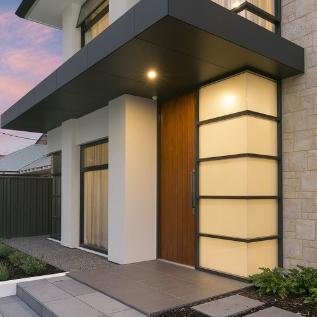 Front door modern facade